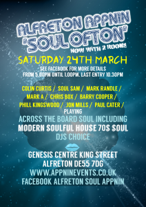 ALFRETON SOUL APPNIN Colin Curtis SOUL Sam Mark Randle Jon Mills Mark A Chris Box Barry Cooper Phill Kingswood Paul Cater