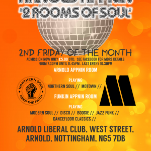 arnold appnin 2nd Friday northern soul motown jazz funk crossover