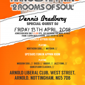 Arnold Appnin, Northern Soul, Motown, funk, crossover disco boogie nottingham